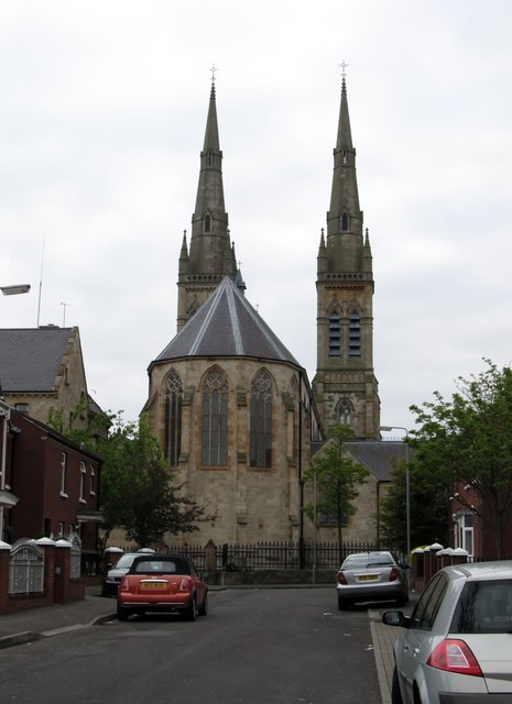 The rear of St Peter's Catholic Cathedral