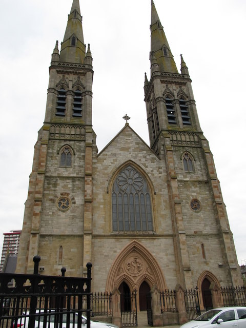 The front of St Peter's Catholic Cathedral