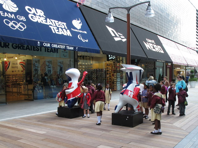 Team GB shop in Westfield, Stratford