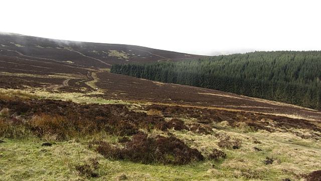 Hill path to Peebles