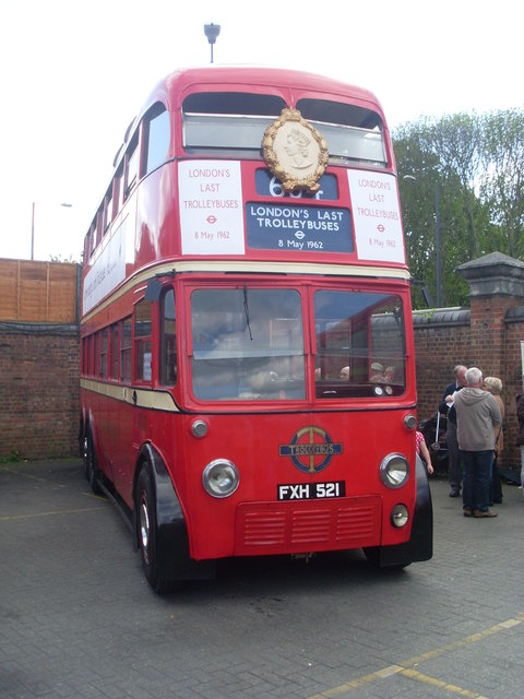 Trolleybus 1521 (FXH 521) at Fulwell Bus Depot