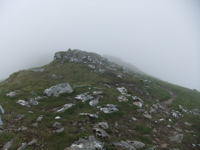 Close to the summit cairn of Luinne Bheinn