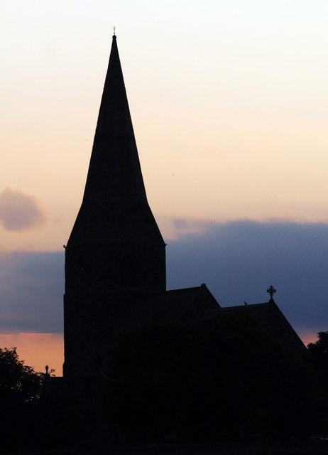 Mappleton Church Silhouette