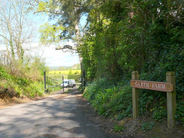 Entrance to Garth Farm