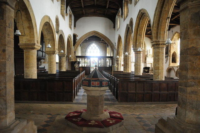 Interior of Swalcliffe church