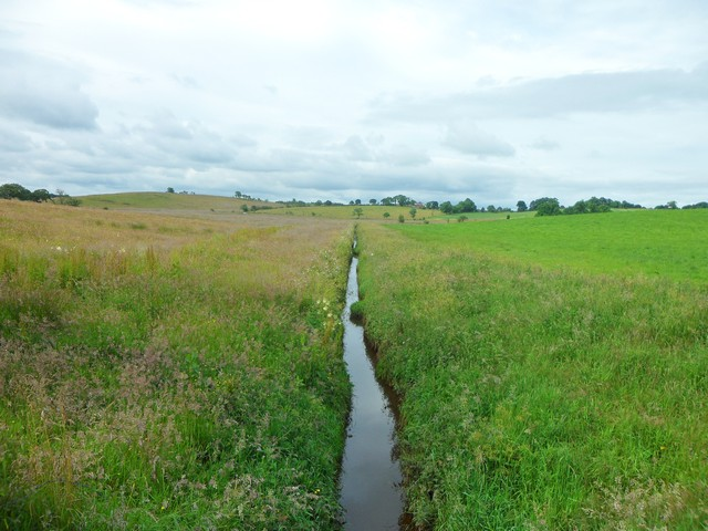 A very straight channel of water near Wester Myvot