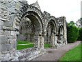 SJ6200 : Norman arches at Wenlock Priory by Christine Johnstone