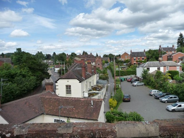 Castle Lane from the railway viaduct