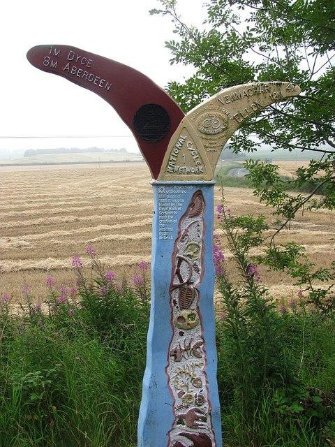 Millennium milepost