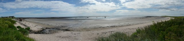 Panorama of Boulmer Haven at low tide