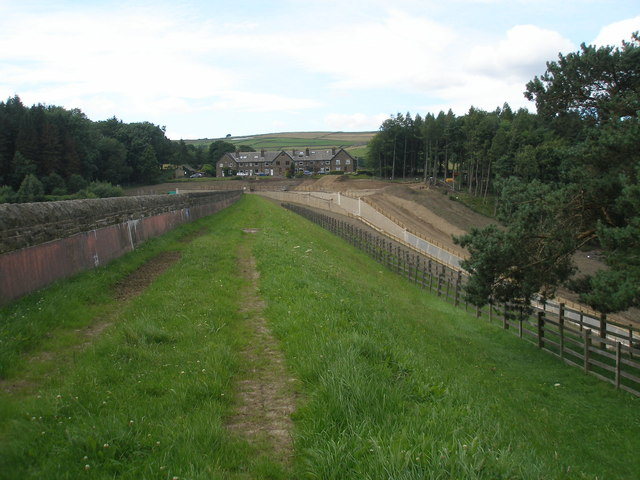 The dam at Brownhill Reservoir