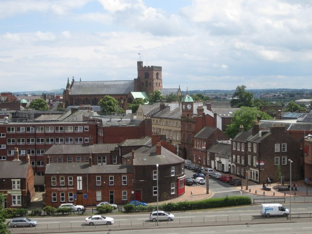 Carlisle Cathedral seen from 3rd floor of Castle keep