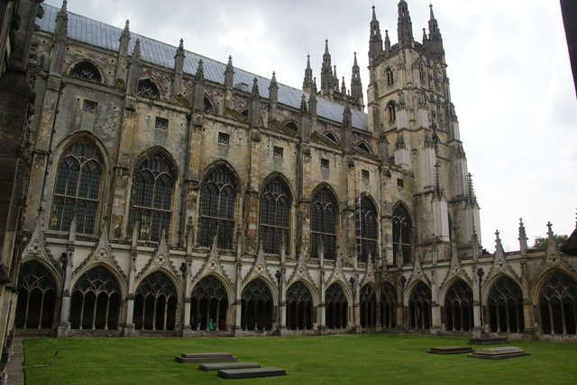 The cloisters, Canterbury Cathedral