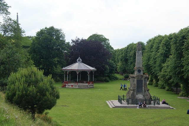 War memorial and bandstand in the Dane John Park