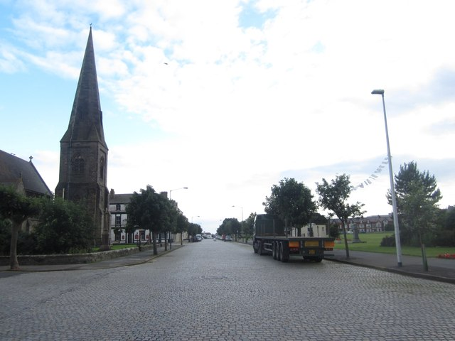 Looking down Criffel Street, Silloth