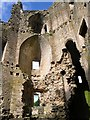 ST7345 : Interior, Nunney Castle by Rose and Trev Clough