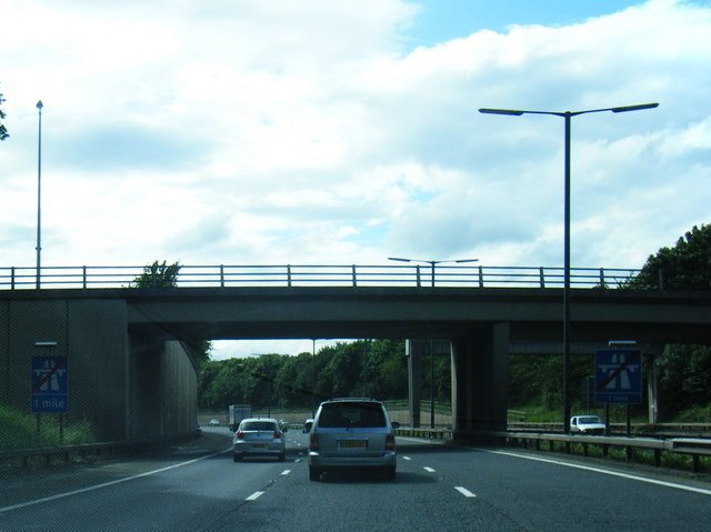 M67 passes under Edward Street bridge