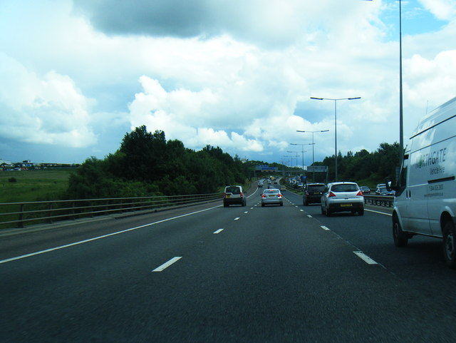 M60 clockwise as it crosses the River Tame