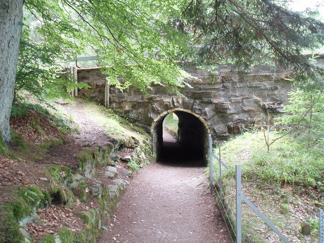 Pedestrian tunnel on Falls of Bruar  path