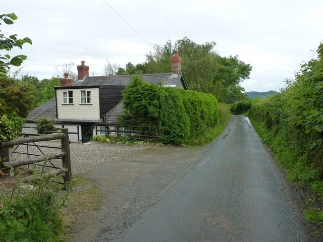 Maplewall cottage on the lane towards Wistanstow