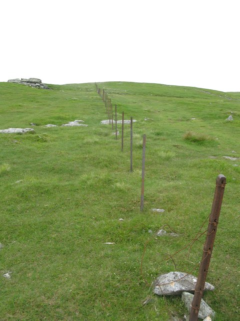 Old fence posts on Ben Chonzie