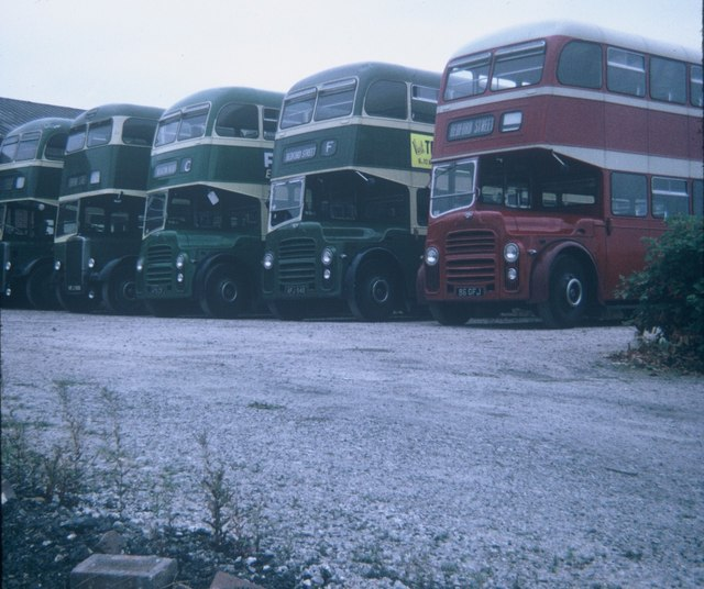 A Group of Buses at Exeter Bus Station