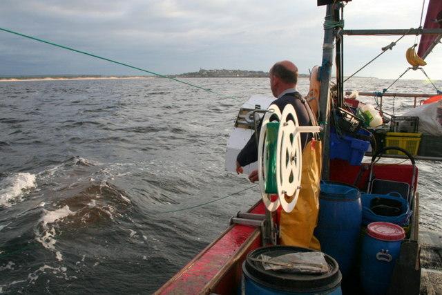 """Long-lining"" for mackerel © Des Colhoun :: Geograph Britain and Ireland"