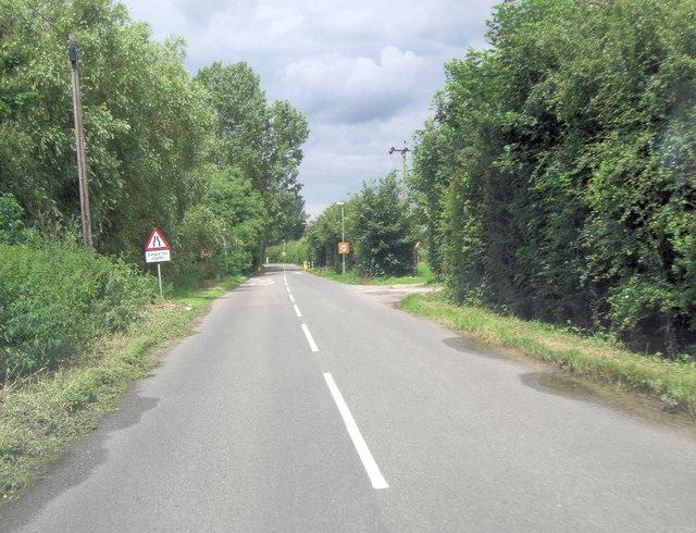 Buckland Road passes Bampton Sewage Works