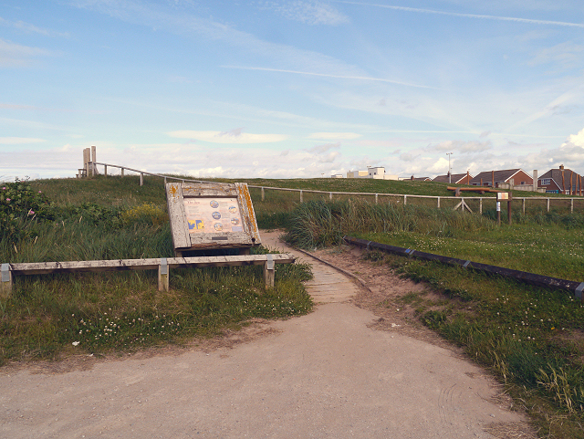 Information Board at Rossall Open Space