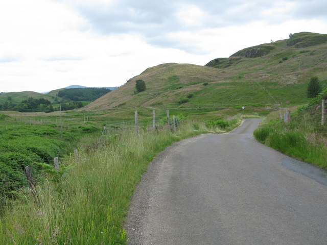 Single Track Road north of Comrie