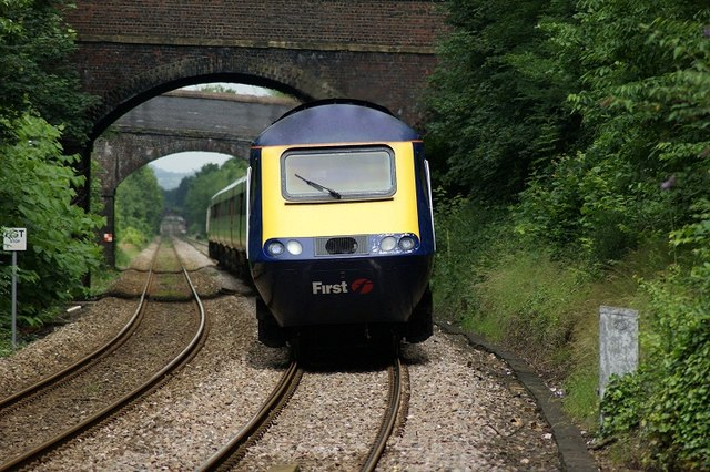 High Speed Train Approaching Great Malvern