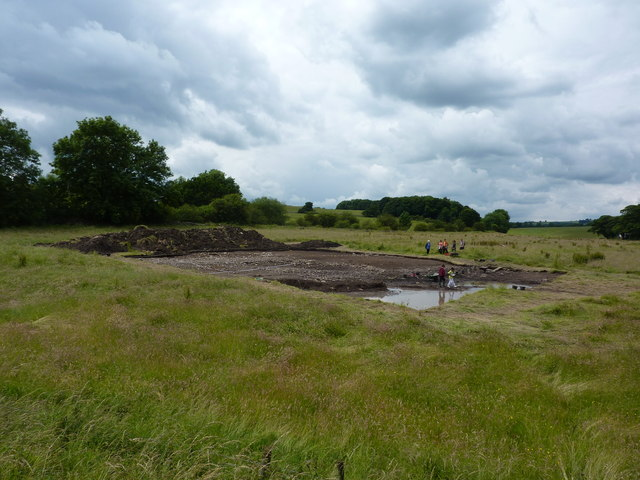 Archaeological dig, Hassop