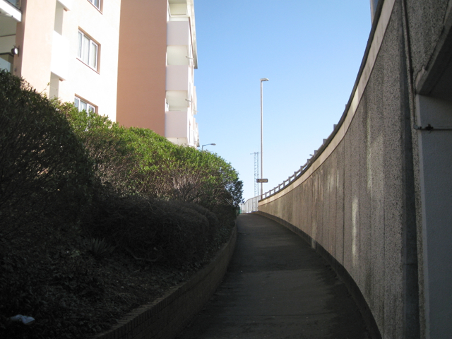 Pedestrian ramp beside Bitton Park Road