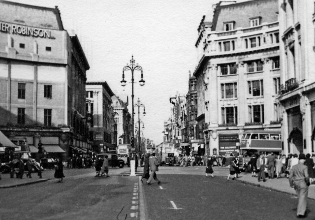 East on Oxford Street at Oxford Circus, 1949