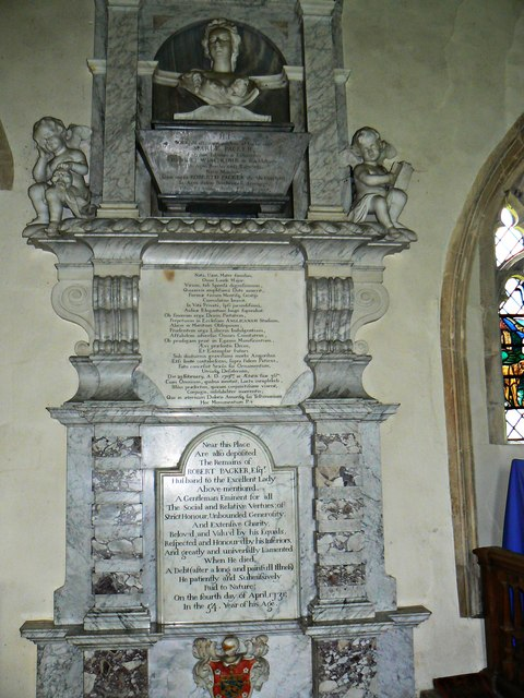 Packer Monument, Church of St Faith, Church Street, Shellingford