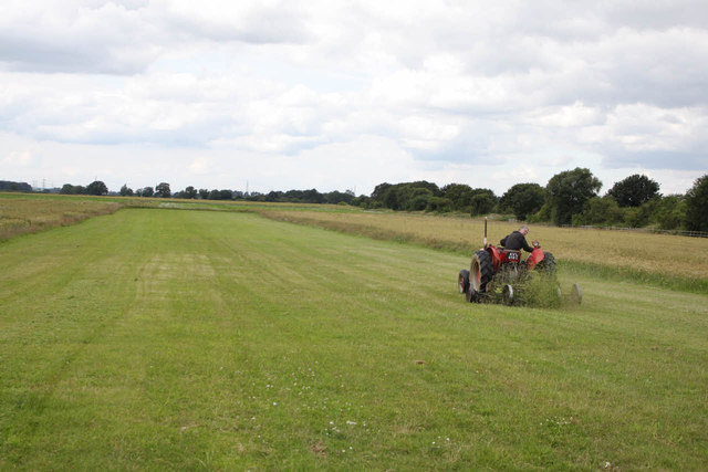 Mowing the airstrip