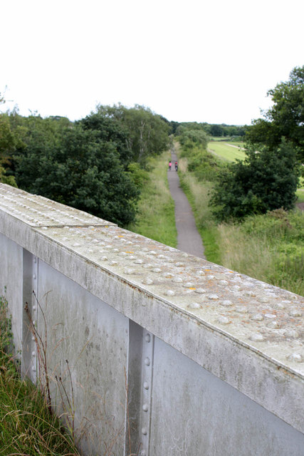 Looking east from Moor Lane bridge