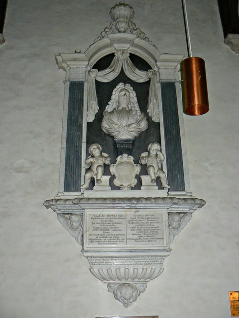 Hannes monument, Church of St Faith, Church Street, Shellingford