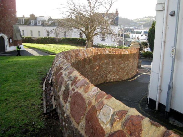 St James's churchyard wall against Daimonds Lane