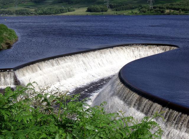 Torside Reservoir water outlet