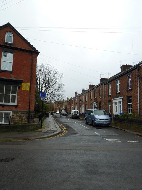 Looking from Clarke Street into Travis Place