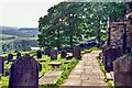 SK2692 : High Bradfield: St Nicholas Church main pathway by Eugene Birchall