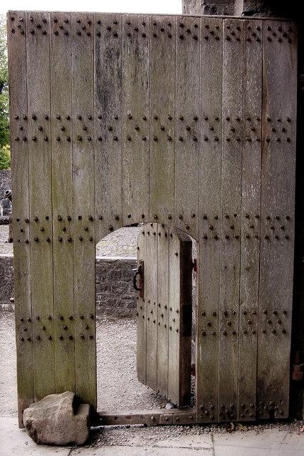 Bunratty Castle - Small Door within a Big Door & Bunratty Castle - Small Door within a... © Joseph Mischyshyn ...