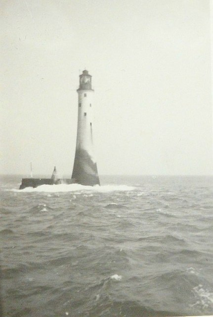 Bishop Rock lighthouse in 1943