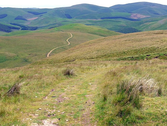 Clennell Street from Outer Cock Law