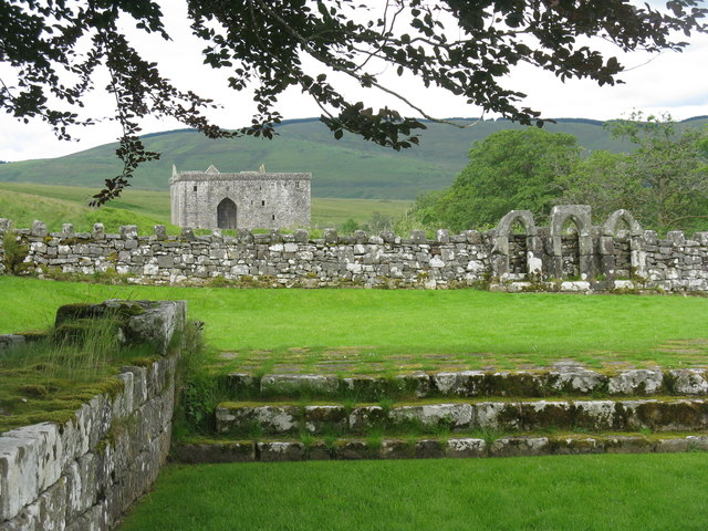 Hermitage Castle from the Chapel graveyard