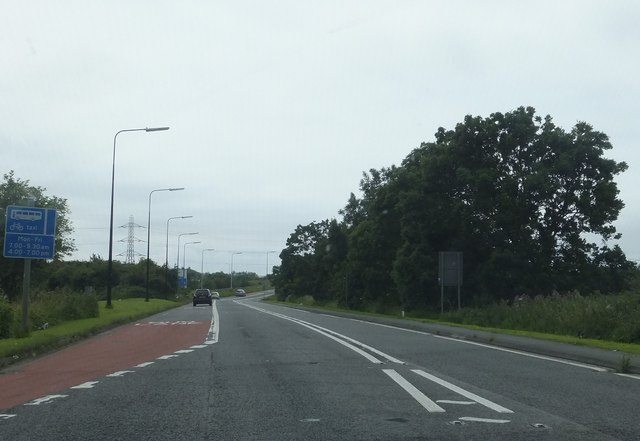 The A370 near Junction 21 of the M5