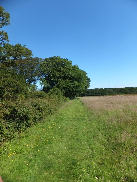 Footpath beside the Horse and Groom inn