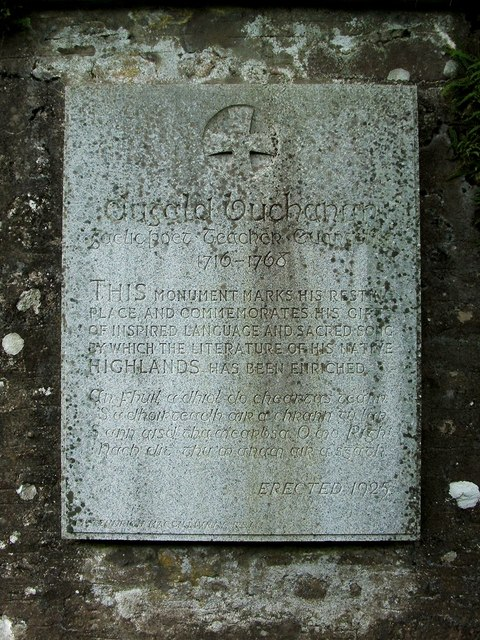 Memorial to Dugald Buchanan