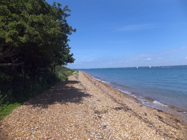 Beach at Hamstead Point